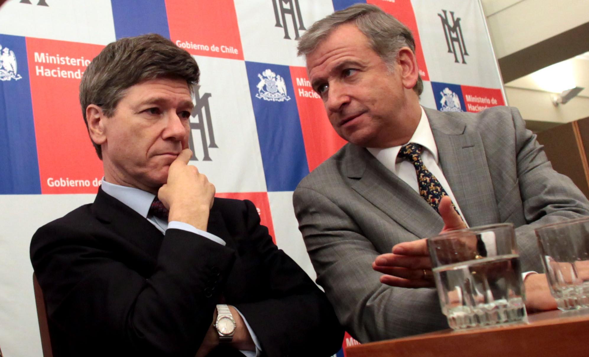 Jeffrey Sachs junto al ministro de Hacienda | Archivo | Agencia UNO