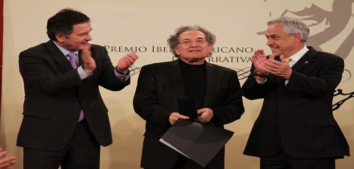 Ministro Ampuero, Ricardo Piglia, Presidente Piñera