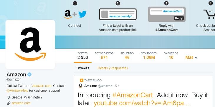 Amazon en Twitter