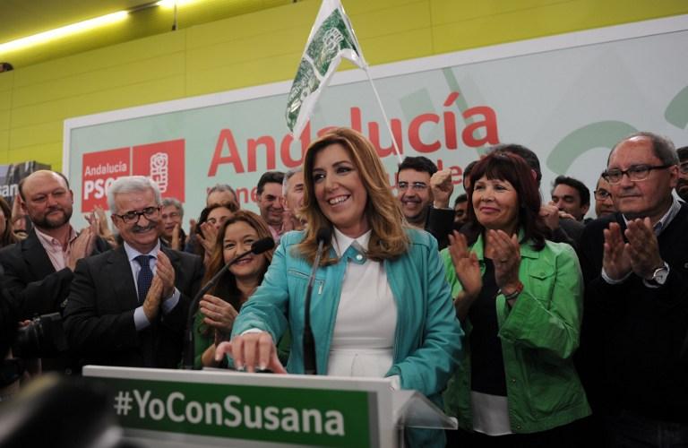 Susana Díaz (centro) | Cristina Quicler | AFP