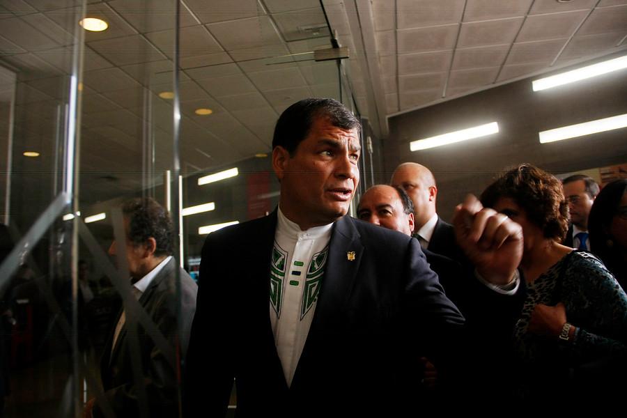 Rafael Correa   Hans Scott   Agencia UNO