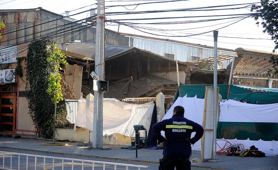 Caída de muro en Quillota | Pablo Ovalle | Agencia UNO