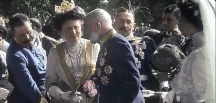 Francisco Fernando, Sofía Chotek y el emperador Francisco José en 1911