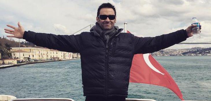 Hugh Jackman compartió esta foto al arribar a Estambul