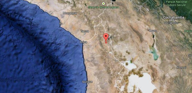 Epicentro del sismo según el CSN | Google Maps