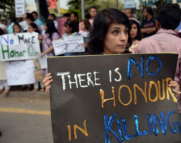 Archivo | Protesta contra llamados Crímenes de honor | Aamir Qureshi | AFP
