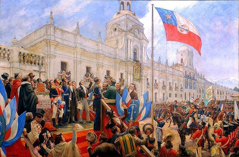 Proclamación independencia de Chile