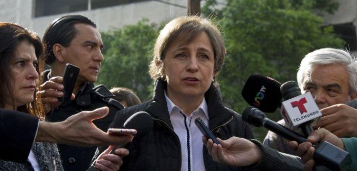 La periodista mexicana Carmen Aristegui   AFP