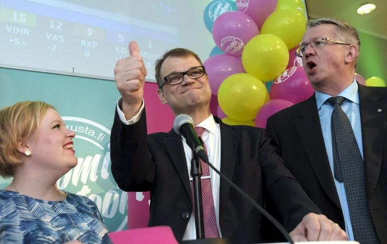 Juha Sipilä (al centro) | Markku Ulander | AFP