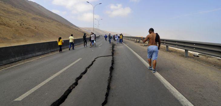 Huellas del terremoto en Iquique, norte de Chile | Archivo / Agencia UNO