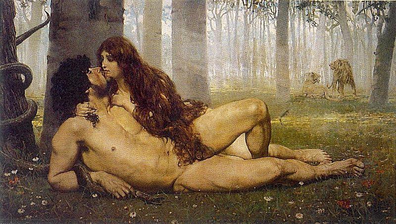 El primer beso de Adan y Eva | Salvador Viniegra y Lasso de la Vega (DP)