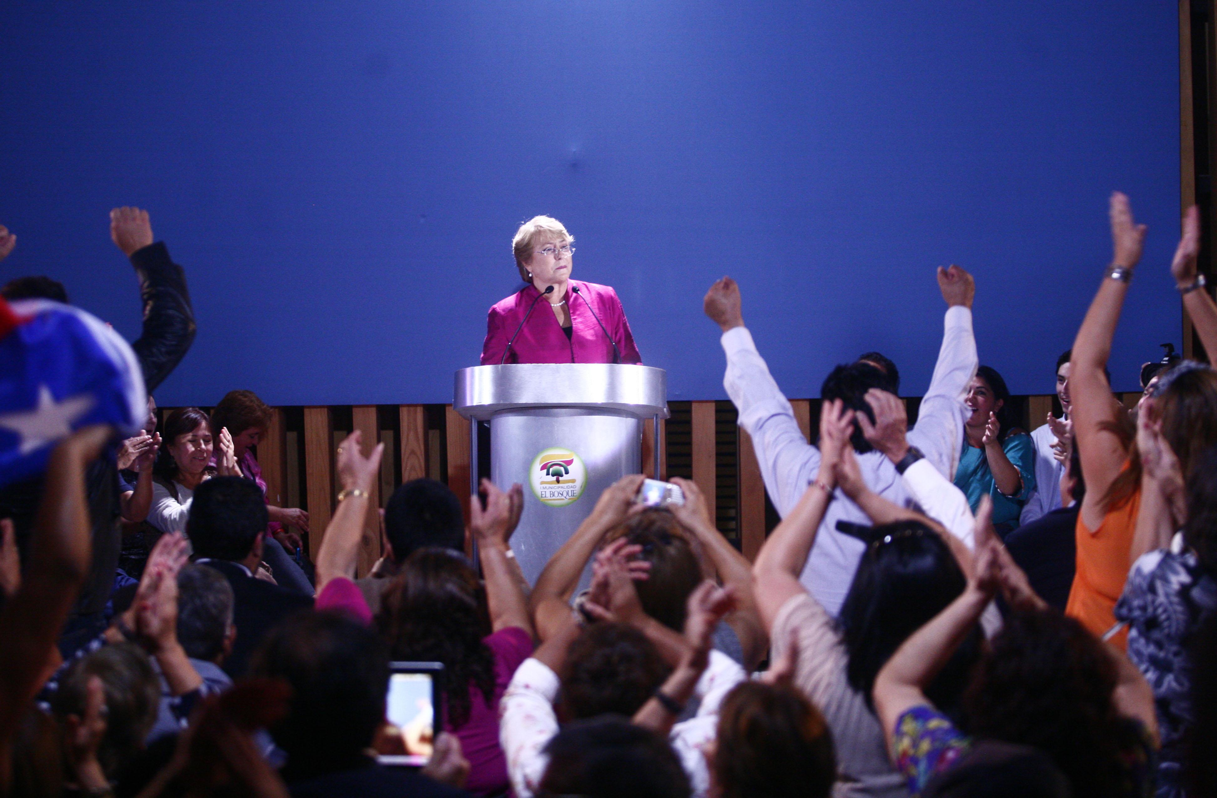 Bachelet lanza candidatura | Juan González | Agencia UNO