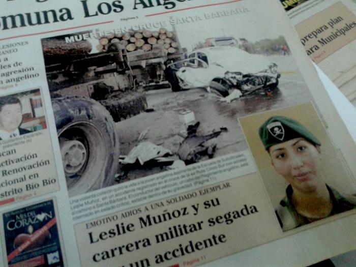 Portada Diario La Tribuna de Los Ángeles del 16 de agosto de 2006
