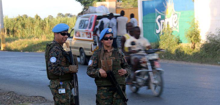 Efectivos chilenos en Haití / Ministerio de Defensa de Chile