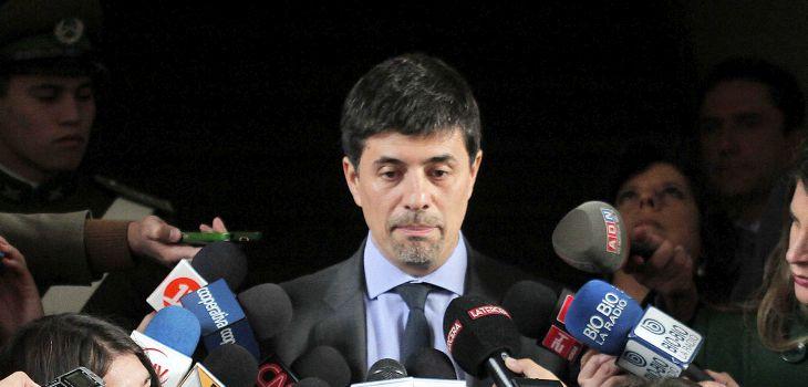 Ministro vocero Marcelo Díaz   Pedro Cerda / Agencia UNO