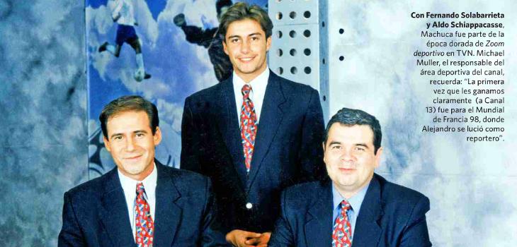 Alejandro Machuca, Fernando Solabarrienta y Aldo Schiappacasse
