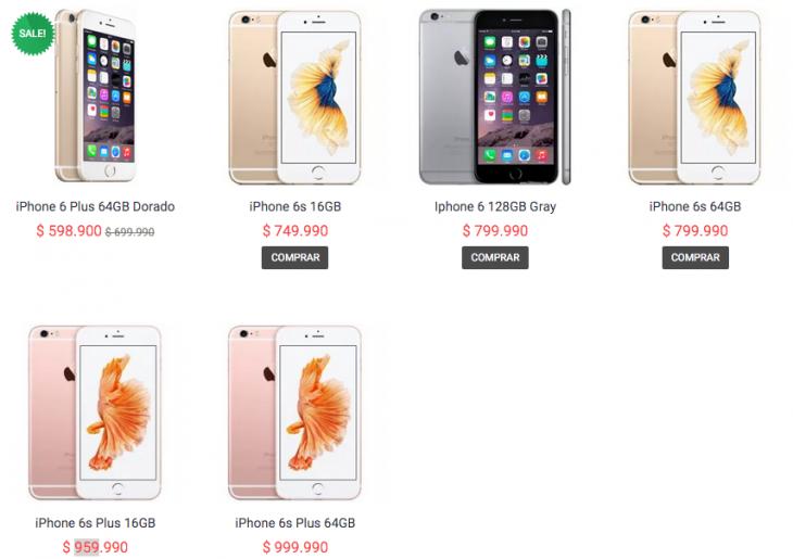 fff614945ac Los nuevos iPhone 6s y 6s Plus ya se venden en Chile: precios desde ...