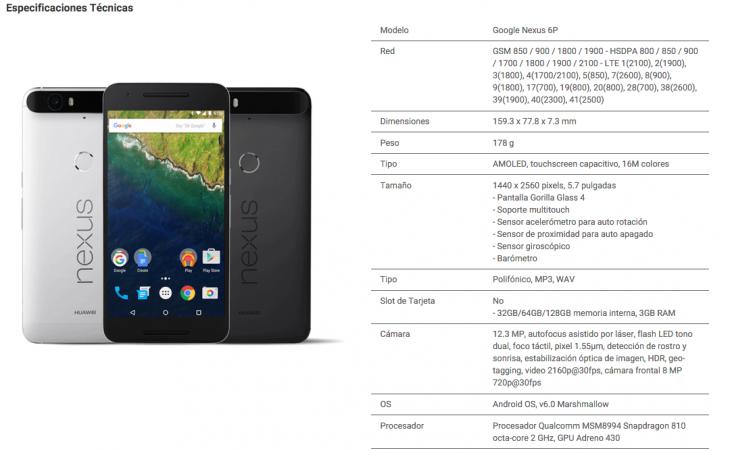 40a7731d7f2 Huawei lanza en Chile el teléfono gama alta de Google: el Nexus 6P ...