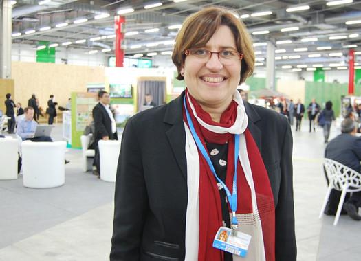 La científica Valerie Masson-Delmotte, en la COP21 en París. | Adeline Marcos (Sinc)