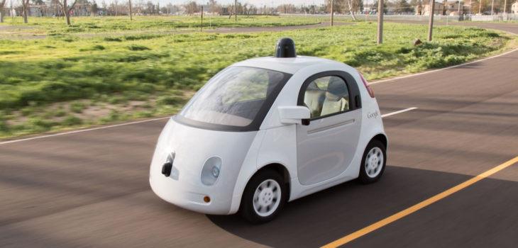 El vehículo autónomo de Google.