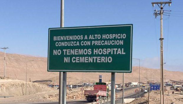 Resultado de imagen para letrero de alto hospicio