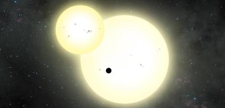 Recreación artística del sistema estelar del planeta Kepler-1647 b | Lynette Cook