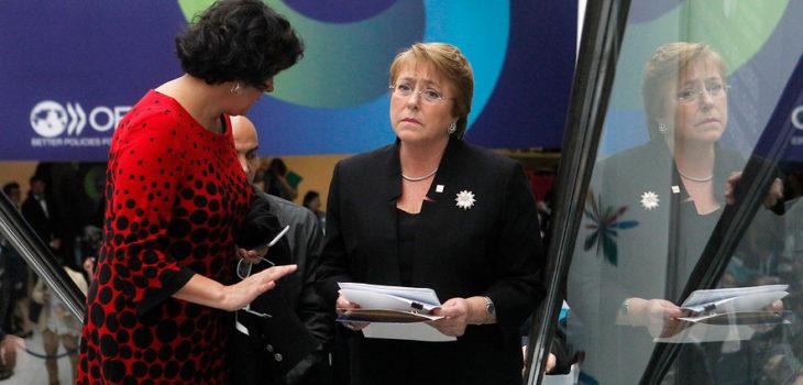 Haydeé Rojas junto a Michelle Bachelet   Cristobal Escobar   Agencia UNO