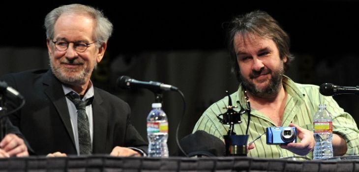 Steven Spielberg y Peter Jackson | AFP