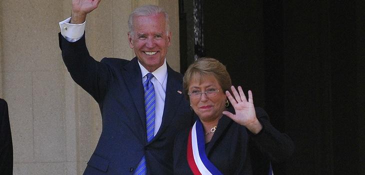 Joe Biden y Michelle Bachelet | Archivo | Agencia Uno