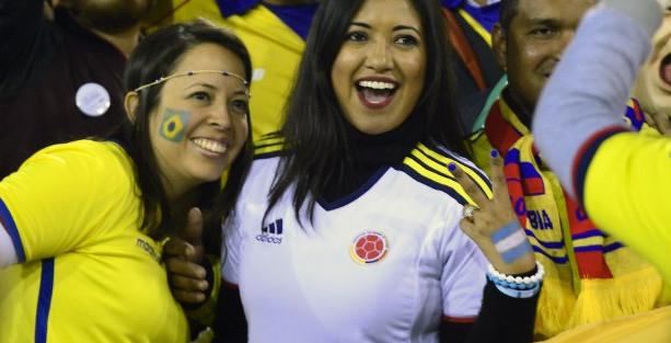 Hinchas colombiana durante la Copa América en Chile | AFP