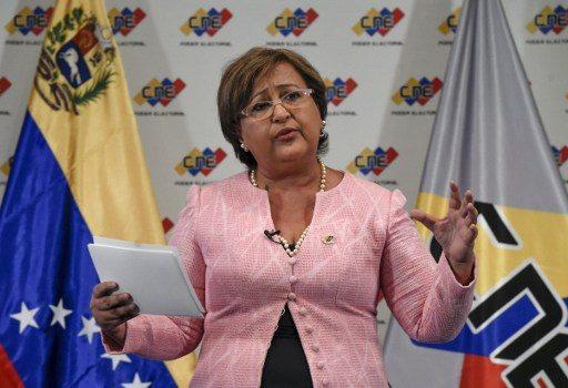 Tibisay Lucena, presidenta del CNE | Agencia AFP