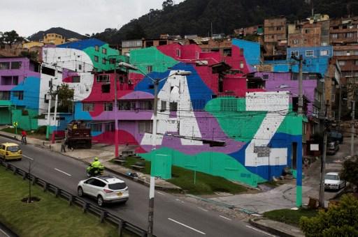 Mural en Bogotá (Colombia) en apoyo a la paz | Agencia AFP