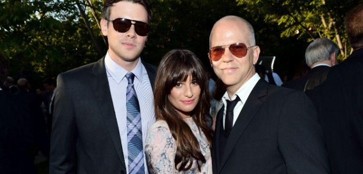 Cory Monteith, Lea Michele y Ryan Murphy | Agence France Presse