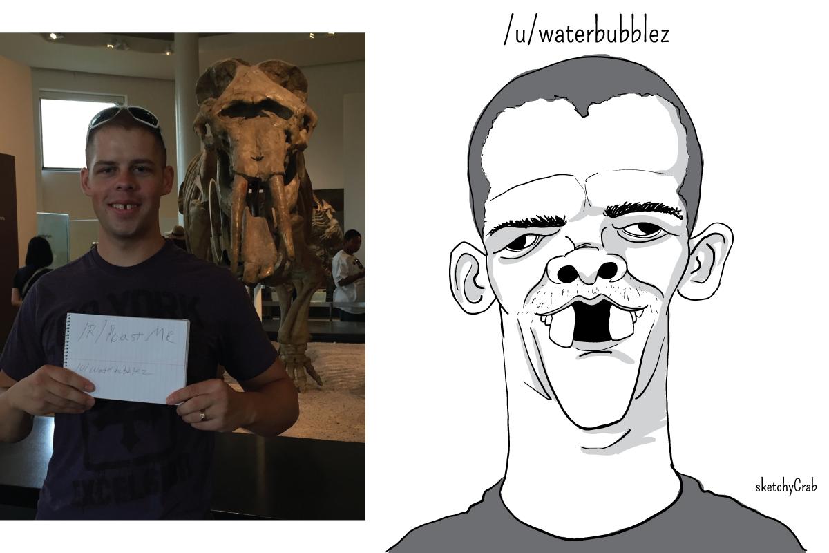 caricatura de sketchycrab