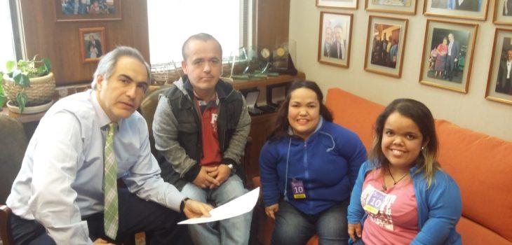 Senador Francisco Chahuán junto a Corporación Pequeñas Personas de Chile