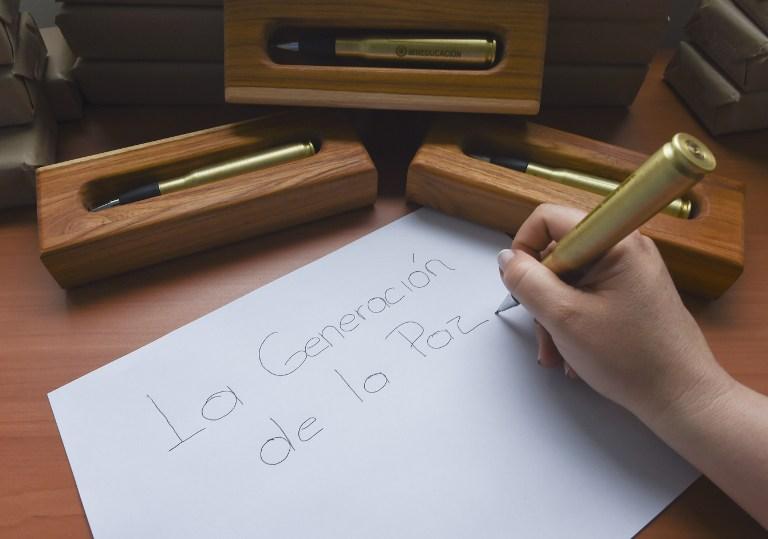 Balígrafo paz Colombia