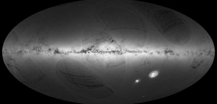 Mapa del cielo tomado por Telescopio Gaia | ESA