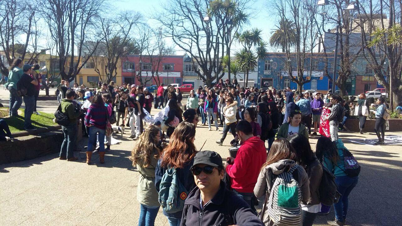 Manifestación contra el rodeo en Temuco