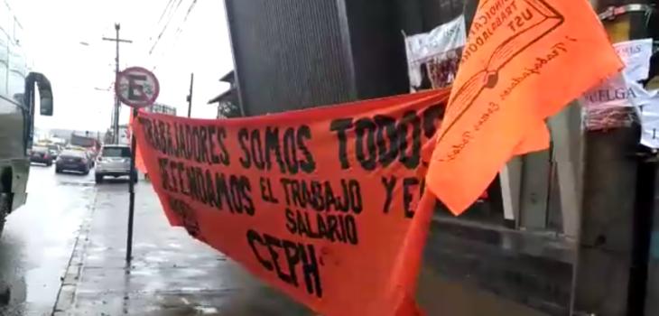 Paro funcionarios UST Valdivia | Carlos López