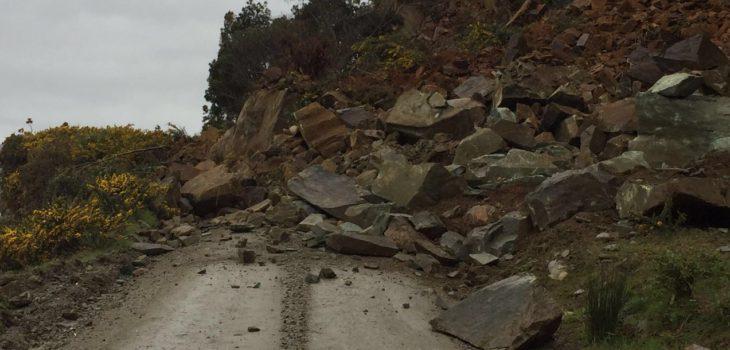 Derrumbe en La Aguada | Carabineros de Corral