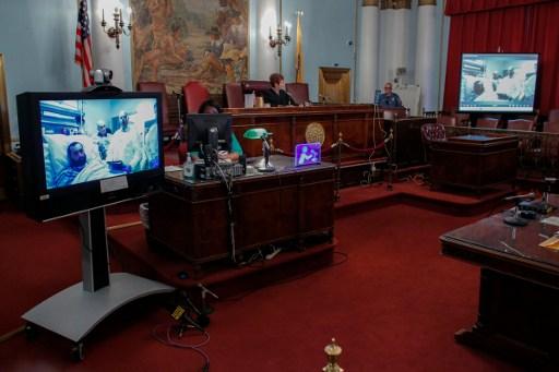 Ahmad Khan Rahimi durante juicio   Agencia AFP