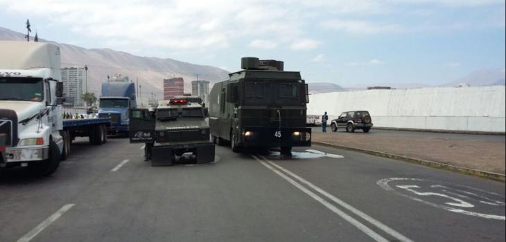 Manifestación en puerto de Iquique | @PortalPortuario