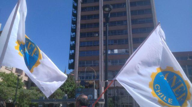 Funcionarios de Confusam Valparaíso se manifestaron en rechazo al reajuste salarial propuesto por el Gobierno