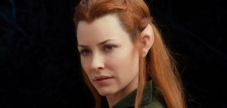 """Elfa Tauriel en trilogía """"El Hobbit"""", basada en libro de J.R.R. Tolkien"""
