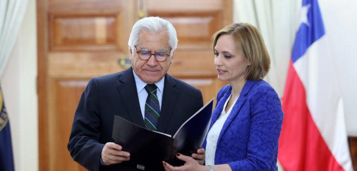 Ministro Mario  Fernández y Carolina Goic | Agencia UNO