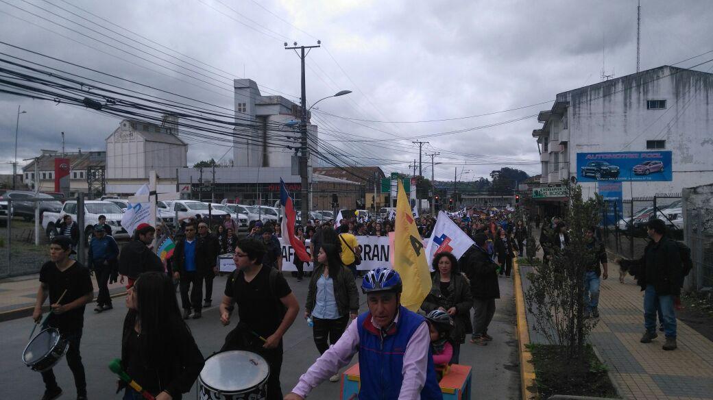 Masiva marcha contra las AFP en Osorno