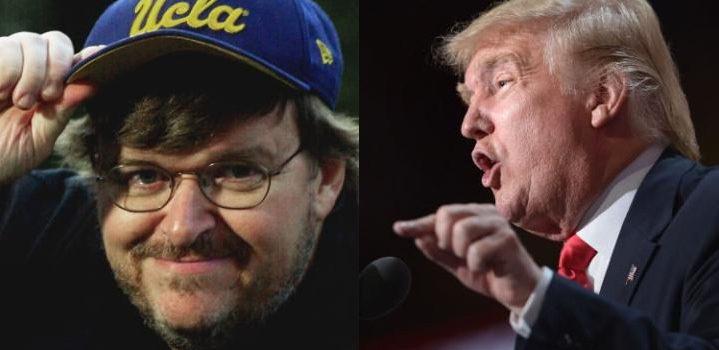 Michael Moore (izquierda) y Donald Trump (derecha) | The Telegraph