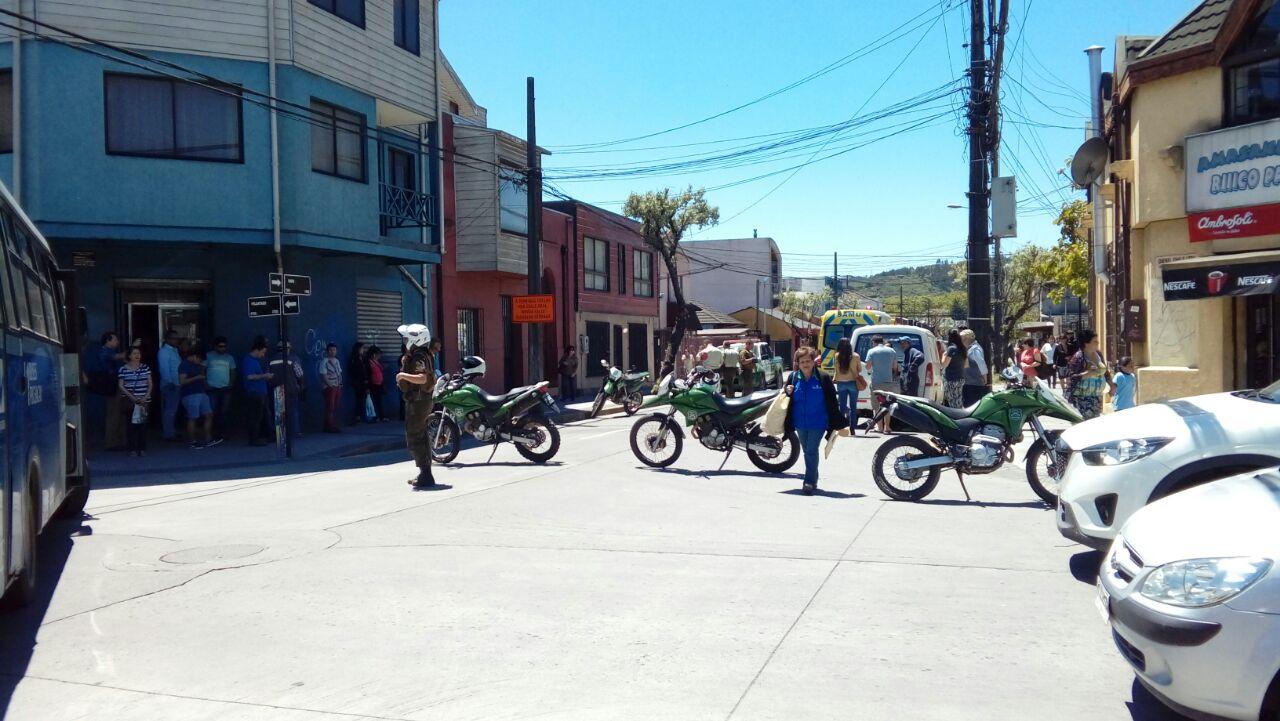 Calle Maipú cortada