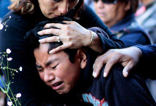 Durante funeral de víctimas del incidente | Agencia AFP
