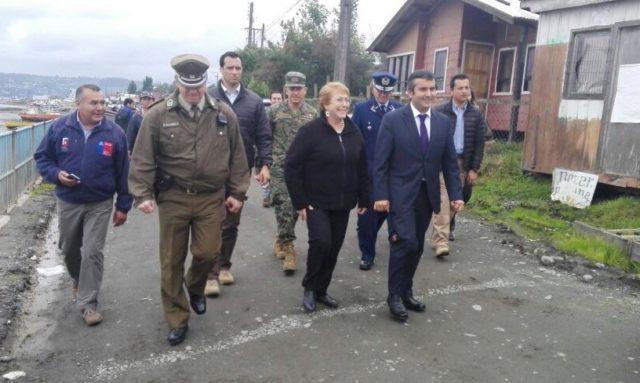 Bachelet en Chiloé   presidencia_cl